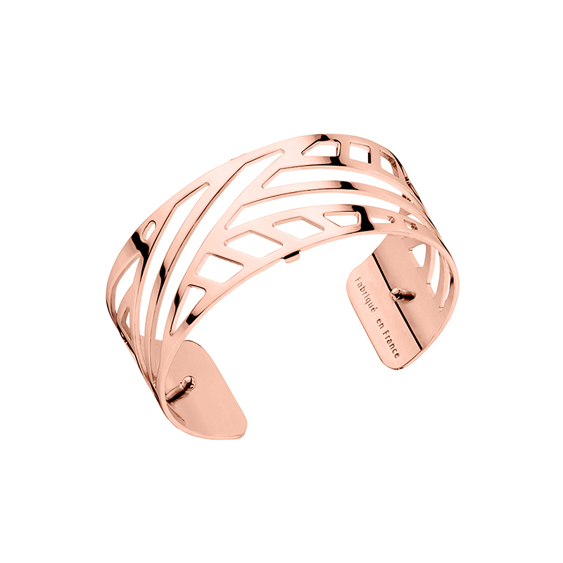 bracelet jonc les georgettes ruban medium finition or rose brillant. Black Bedroom Furniture Sets. Home Design Ideas