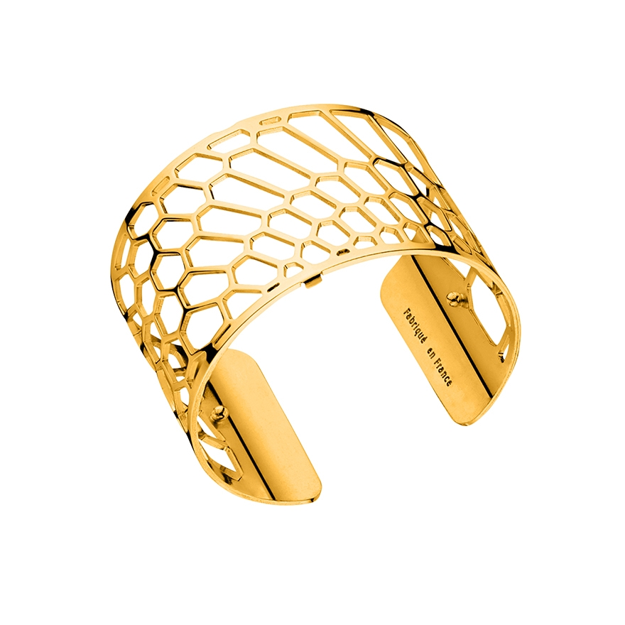 bracelet manchette les georgettes nid d 39 abeille large finition or brillant. Black Bedroom Furniture Sets. Home Design Ideas