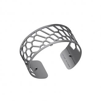 Bracelet manchette Les Georgettes Nid d'abeille Medium finition Ruthenium 70285713500000