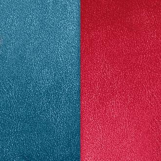 Cuir Les Georgettes Large Bleu pétrole/Framboise