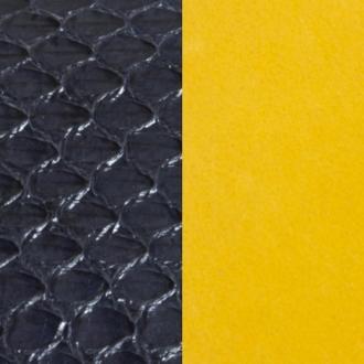 Cuir Les Georgettes Large Serpent d'eau marine/Ocre