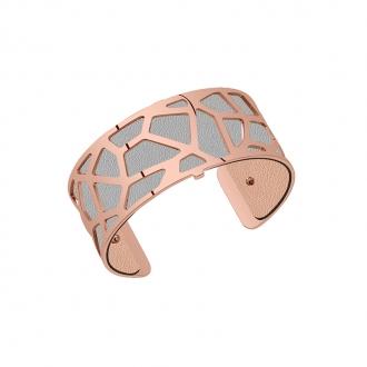 Cuir pour bracelet 25 mm Les Georgettes Rose clair/Gris clair 702755199MP000