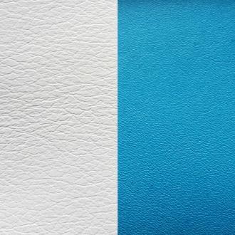 Cuir Les Georgettes Medium Turquoise/Blanc