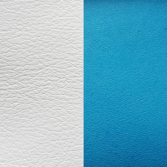 Cuir Les Gerogettes Medium Turquoise/Blanc