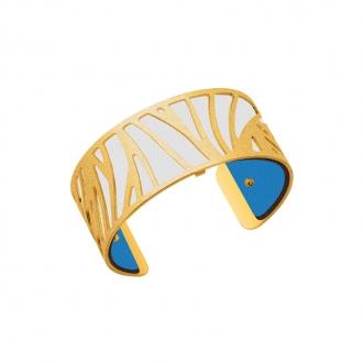 Cuir pour bracelet 25 mm Les Georgettes Turquoise/Blanc 702755199A2000