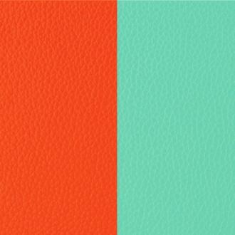 Cuir Les Georgettes Small Orange lilium/Bleu nimbus
