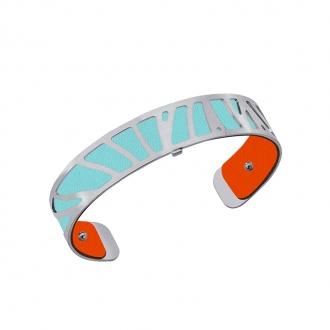 Cuir our bracelet 14 mm Les Georgettes Orange lilium/Bleu nimbus 702145899MU000