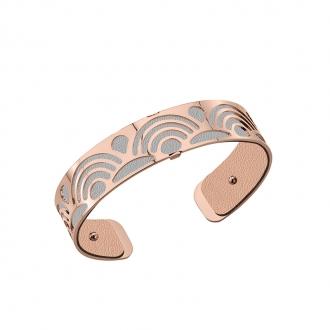 Cuir pour bracelet 14 mm Les Georgettes Rose clair/Gris clair 702145899MP000