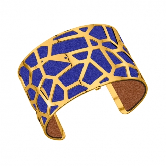 Cuir pour bracelet 40 mm Les Georgettes Bleu denim/Canyon 702145799M5000