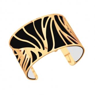 Cuir pour bracelet 40 mm Les Georgettes Noir/Blanc 702145799M4000