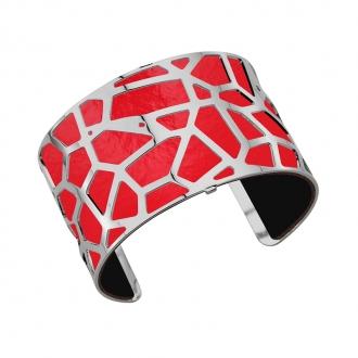 Cuir pour bracelet 40 mm Les Georgettes Rouge verni/Noir 702145799AO000