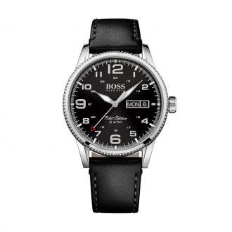 Montre Hugo Boss Pilot  cuir noir 1513330