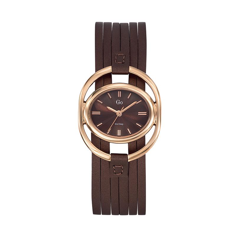 Montre Go Girl Only bracelet multi-liens marron 698873