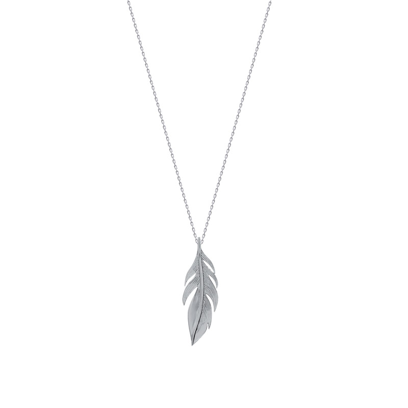 grand choix de e54b5 32907 Collier Carador chaine et pendentif plume argent 925/000