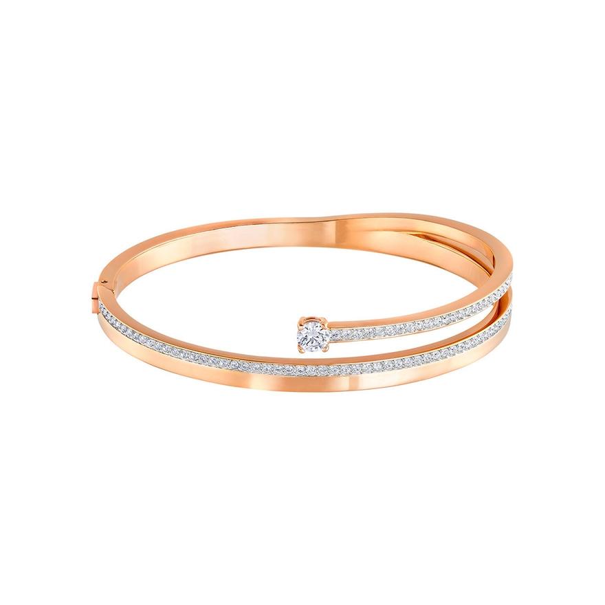 bracelet jonc swarovski fresh dor rose 5217727 pour femme. Black Bedroom Furniture Sets. Home Design Ideas