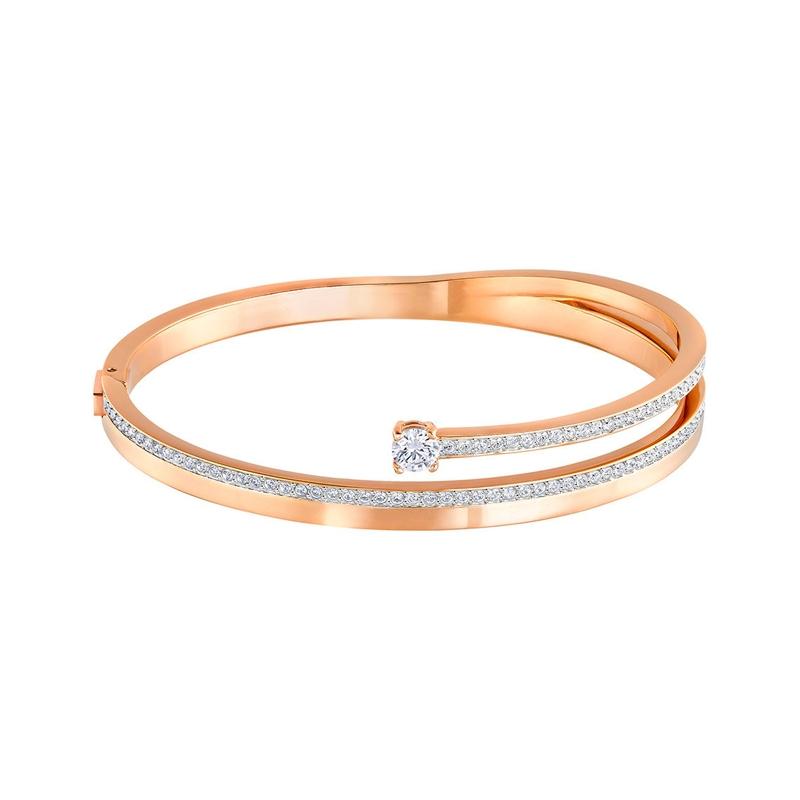 Bracelet Jonc Swarovski Fresh doré rose 5217747