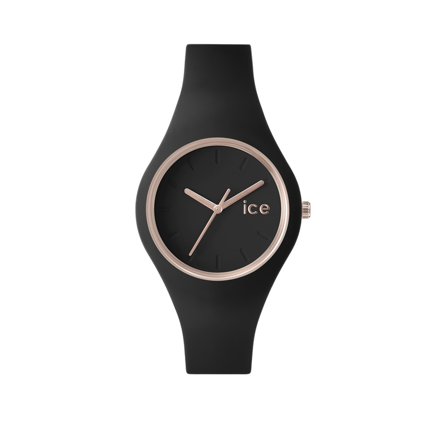 cf21f3b2f0886 Montre Ice-Watch Ice Glam Black rose gold 000979 pour FEMME