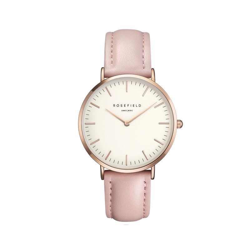 Préférence Montre Rosefield Femme bracelet cuir rose BWPR-B7 pour FEMME FI96