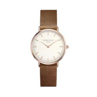 Montre Rosefield collection Tribeca dorée rose et marron TWBRRC-T55