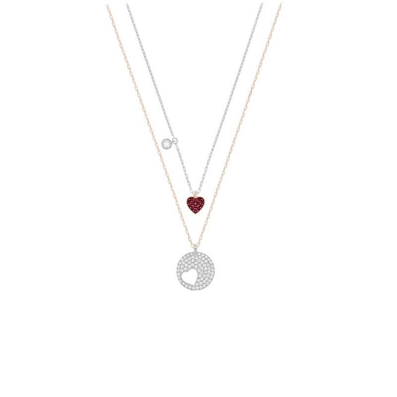Colliers Swarovski Whishes pendentif cœur 5255351