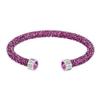 Bracelet jonc ouvert Swarovski Crystaldust Fuchia 5273636