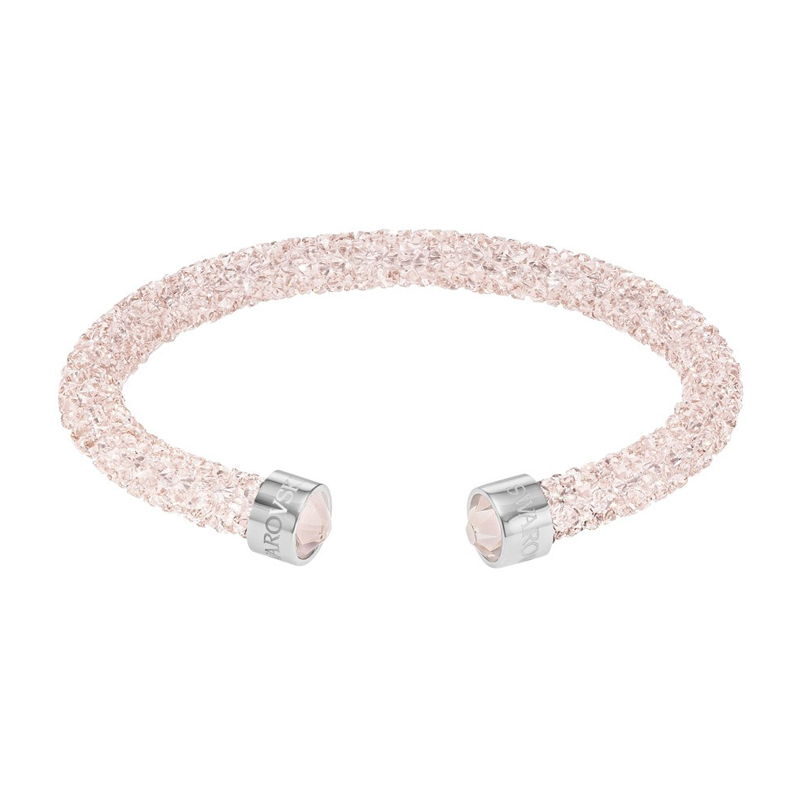 bracelet jonc ouvert swarovski crystaldust rose pale 5273638 pour femme. Black Bedroom Furniture Sets. Home Design Ideas