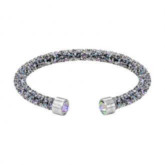 Bracelet jonc ouvert Swarovski Crystaldust gris irisé 5273639