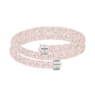 Bracelet Jonc double Swarovski Crystaldust rose pale 5273640