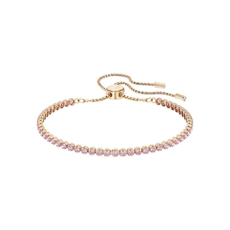 bracelet swarovski subtel dor rose et cristal rose 5274312 pour femme. Black Bedroom Furniture Sets. Home Design Ideas