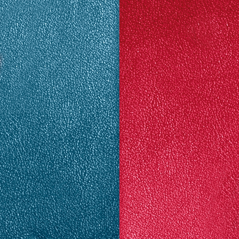 Cuir Les Georgettes Small Bleu pétrol/Framboise