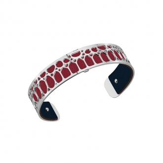 Cuir pour bracelet 14 mm Les Georgettes Bleu pétrol/Framboise 702145899M7000