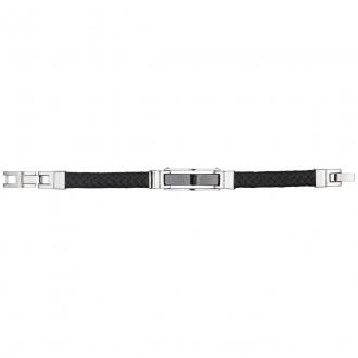 Phebus - Bracelet Acier, Céramique et Cuir