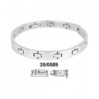 Bracelet Phebus maillons acier 35-0589