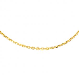 Collier Carador forçat diamanté Or jaune 375/000