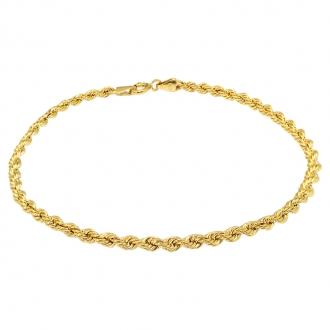 Bracelet Carador Maille corde en or jaune 9 carats