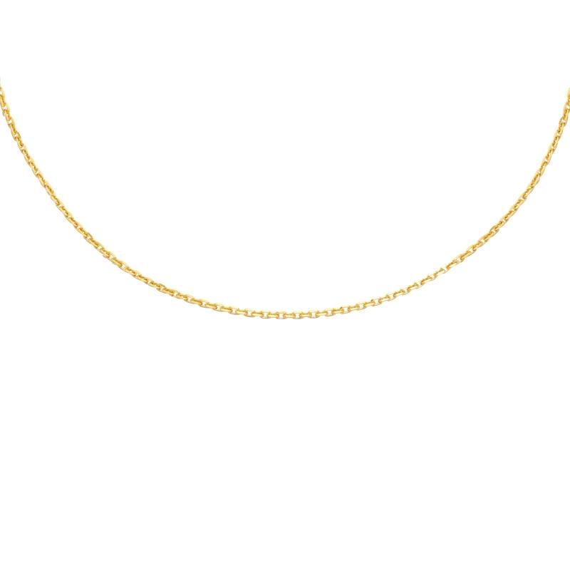 Chaine Carador forçat diamanté or jaune 375/000 45 cm