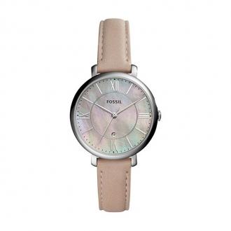 Montre Fossil Jacqueline en cuir rose clair ES4151