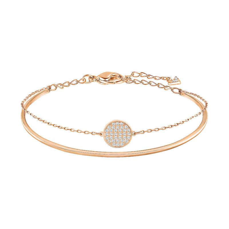 bracelet swarovski ginger bangle dor rose 5274892 pour femme. Black Bedroom Furniture Sets. Home Design Ideas