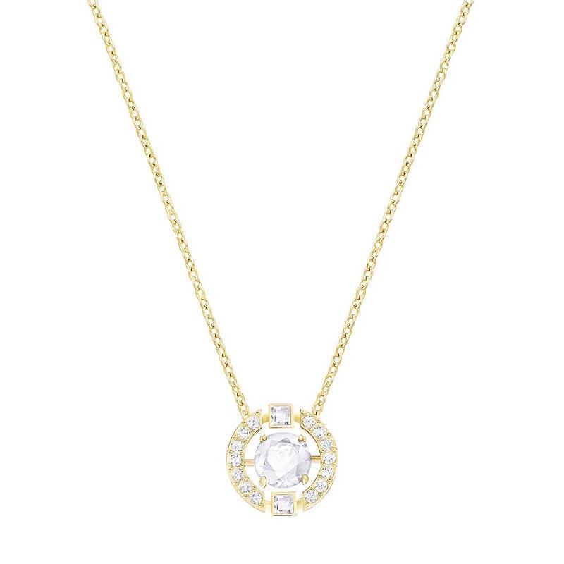 collier swarovski sparking necklace cercle dor 5284186 pour femme. Black Bedroom Furniture Sets. Home Design Ideas