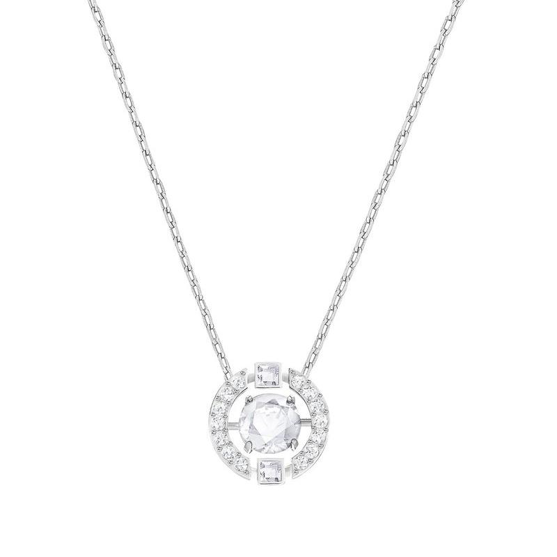Collier Swarovski Sparking Necklace cercle argenté 5286137