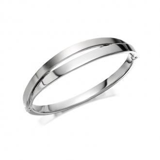 Bracelet jonc Skagen Elin en acier argenté SKJ0714040