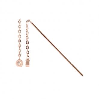 Boucles d'oreilles pendantes Amporelle acier WB650/A-IPGR