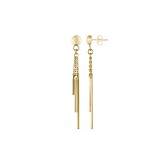 Boucles d'oreilles pendantes Amporelle acier WB590/IPG
