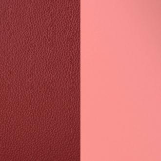 Cuir Les Georgettes Large rose verni/rouge