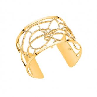 Bracelet Les Georgettes Pétales Large finition doré 70276860108000