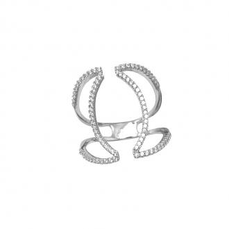 Bague ouverte Silver Pop argent 925/000 et oxydes de zirconium