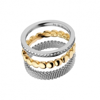Bague Skagen trois anneaux bicolre SKJ0114040