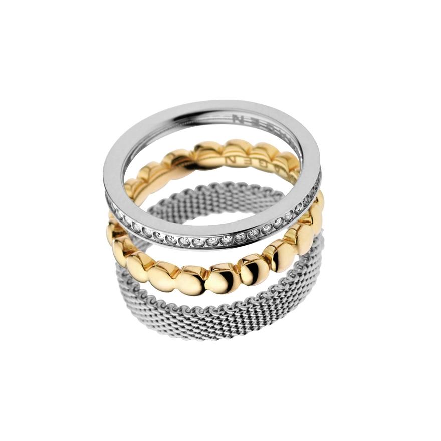 bague skagen trois anneaux bicolre skj0114040 pour femme. Black Bedroom Furniture Sets. Home Design Ideas