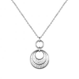 Collier Amporelle motif cercles en acier et oxydes de zirconium