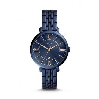 Montre Femme Fossil Jacqueline acier bleu ES4094